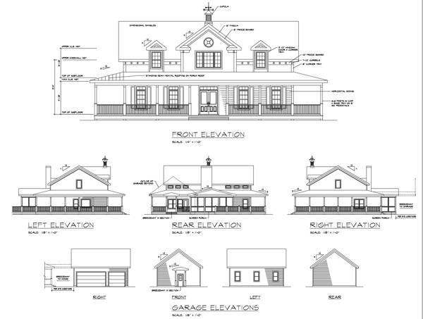 Southern House Plan with 3 Bedrooms and 2.5 Baths - Plan 6245