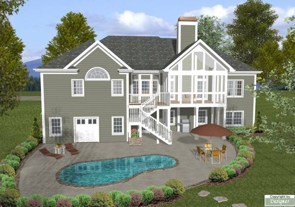 Rear Elevation image of The Mount Airy House Plan