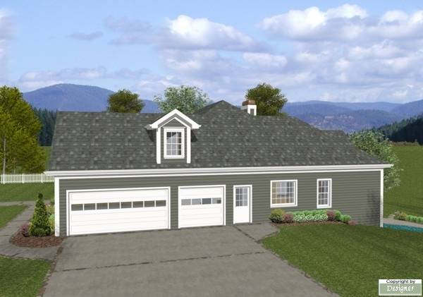 Side View image of The Mount Airy House Plan
