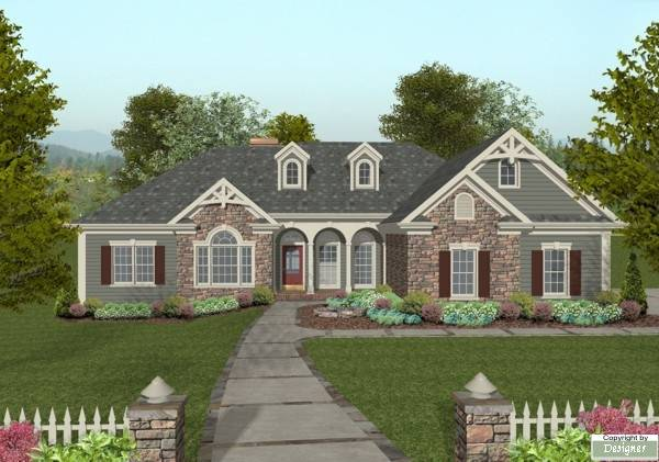 Front Elevation image of The Mount Airy House Plan