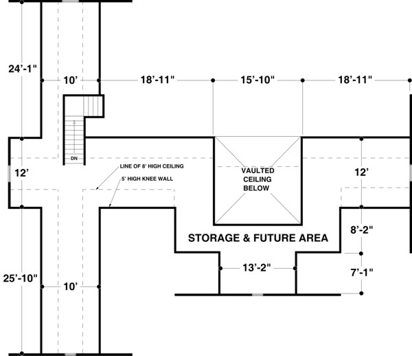 Bonus Room image of The Long Meadow House Plan