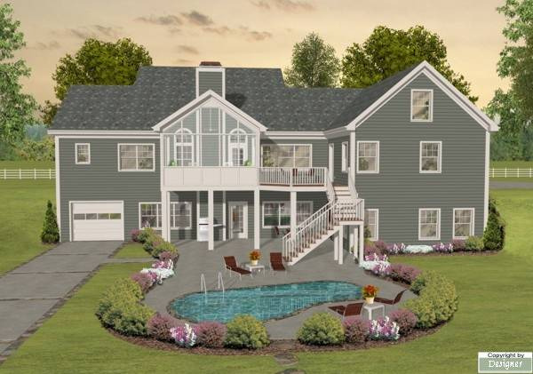 Ranch House Plan with 3 Bedrooms and 3.5 Baths - Plan 1169