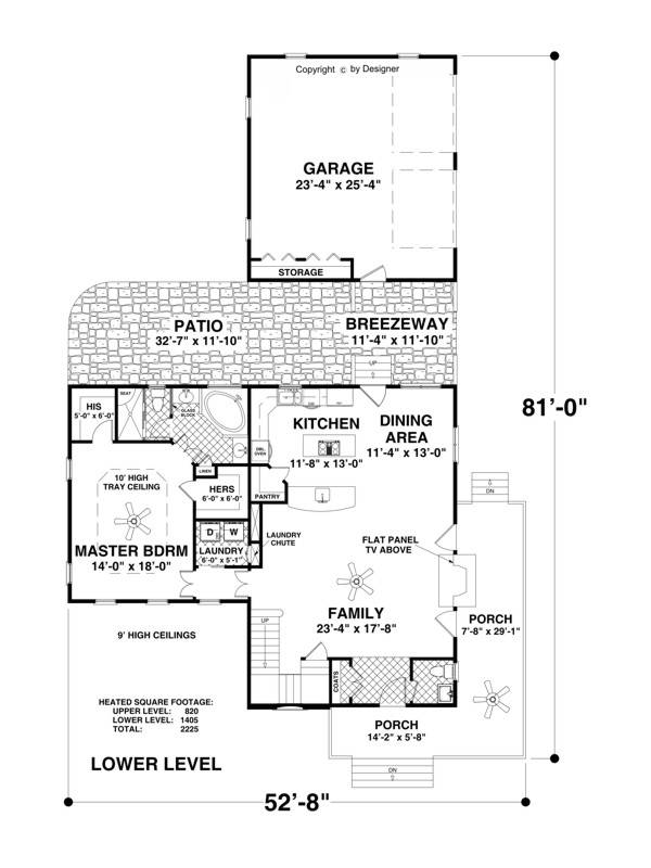 Main Level Floor Plan image of The Sorento House Plan