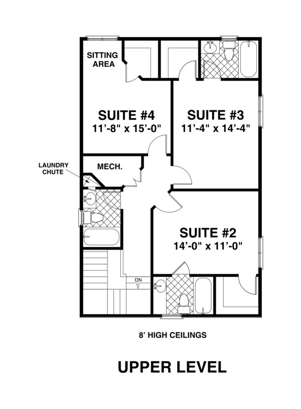 Upper Level Floorplan image of The Sorento House Plan