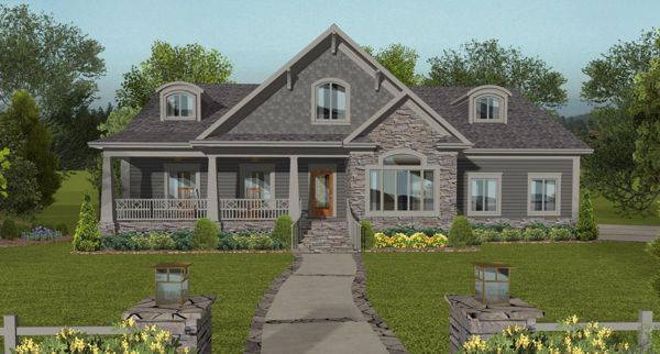 Front Elevation image of The Kirkwood House Plan