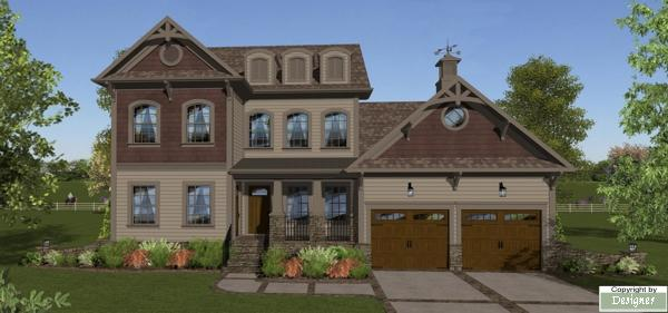Front Elevation image of October Place House Plan