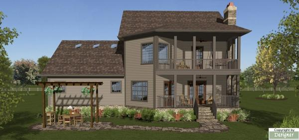 Rear Elevation image of October Place House Plan