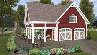 2 car garage plan with loft by DFD House Plans