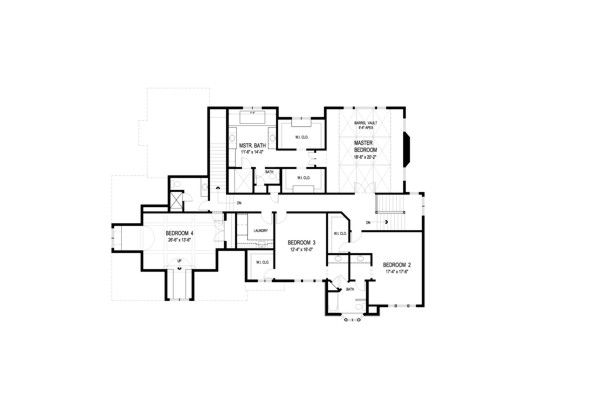Upper Level Floorplan by DFD House Plans