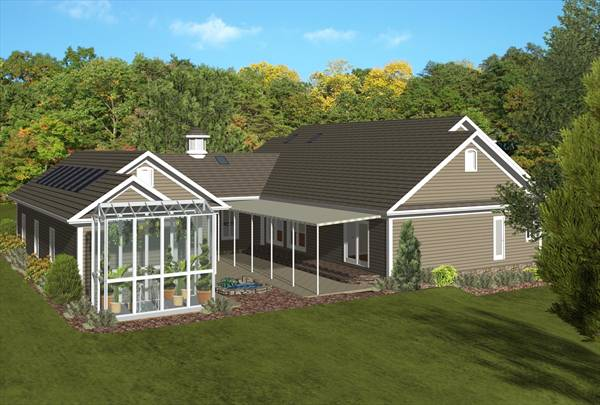 Left Rear Rendering image of The Forest Glade House Plan