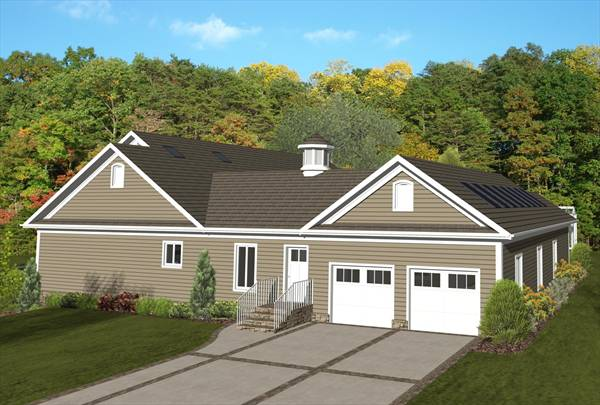 Right Rear Rendering image of The Forest Glade House Plan