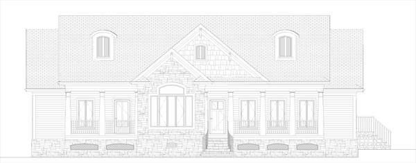 Front Elevation image of The Forest Glade House Plan