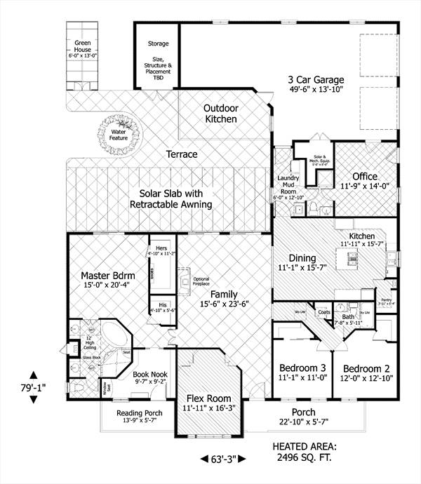 Ranch House Plan with 3 Bedrooms and 2.5 Baths - Plan 3090 on log cabin plan book, chicken coop plan book, ranch house art, ranch house christmas,
