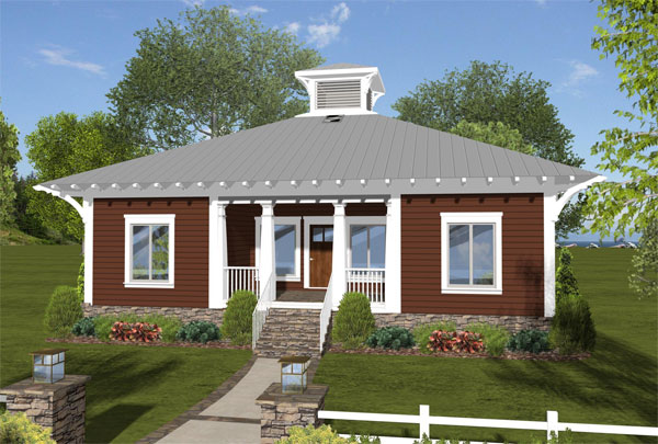 Front Rendering image of The Eco Box House Plan