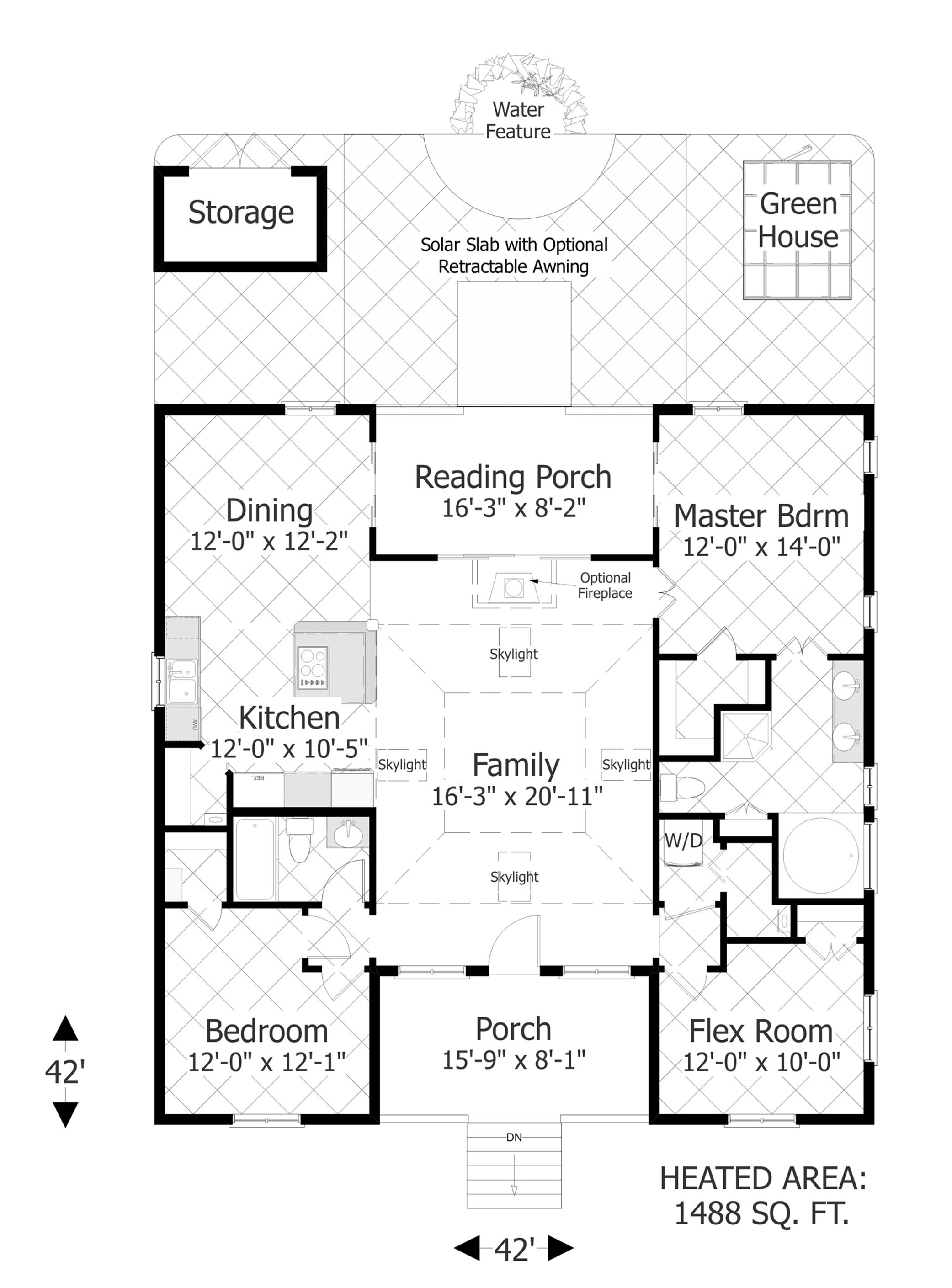 Floor Plan image of The Eco Box House Plan