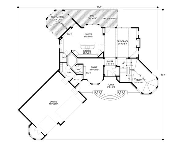 Main Level Floor Plan Image Of Annau0027s Garden House Plan