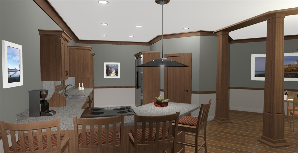 Kitchen image of Cobblestone Glen House Plan