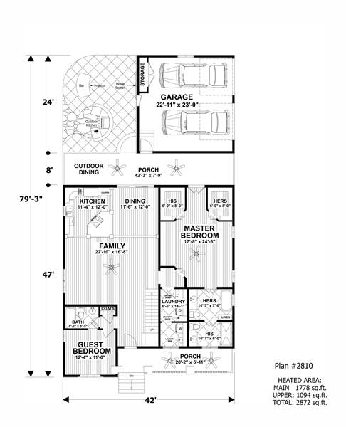 Lower Floorplan image of The Cascade Cottage House Plan