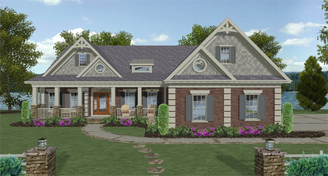 Front Rendering image of The Compass Pointe House Plan