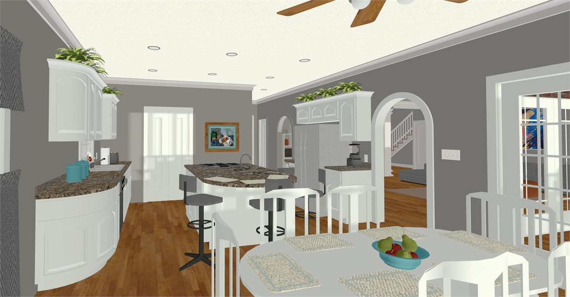 Kitchen image of The Compass Pointe House Plan