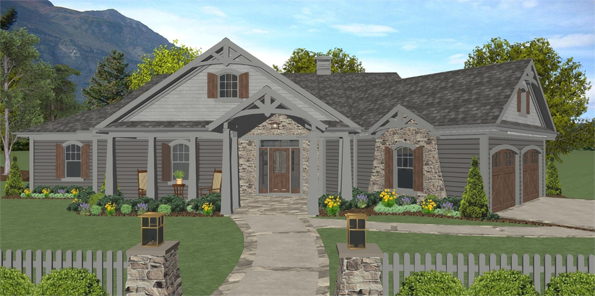 Front Elevation image of The Windy Hill House Plan