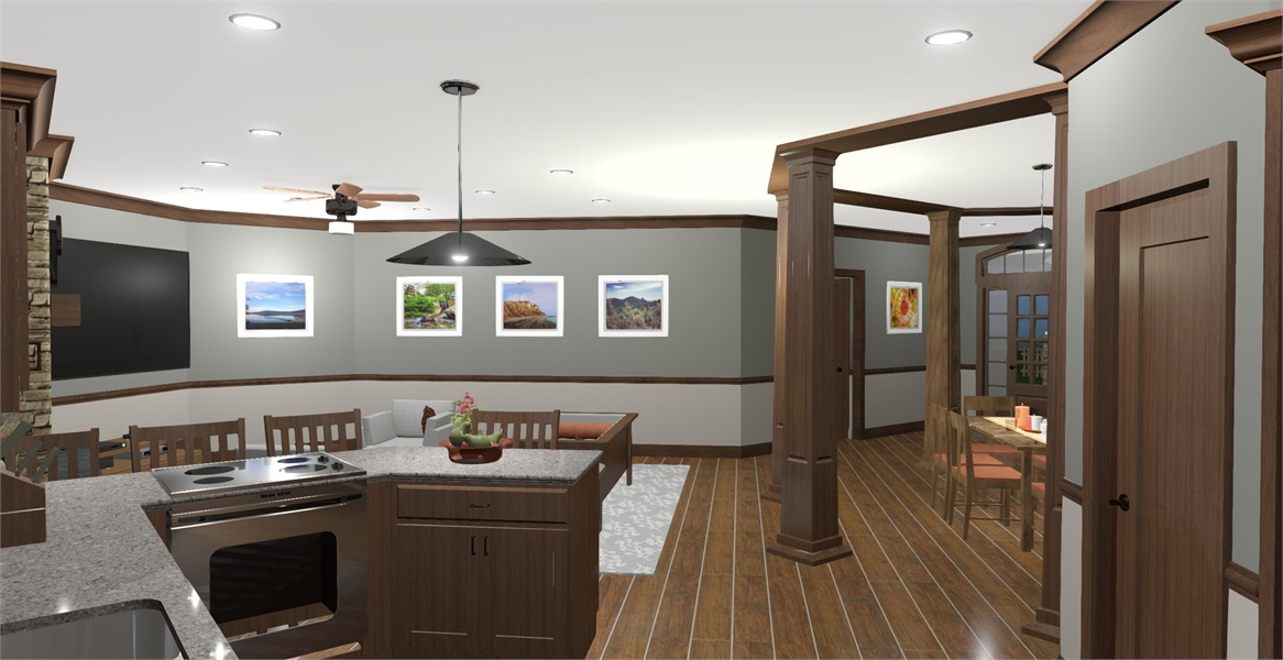 Kitchen image of The Windy Hill House Plan