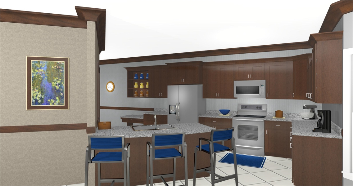 Kitchen image of The Andover House Plan