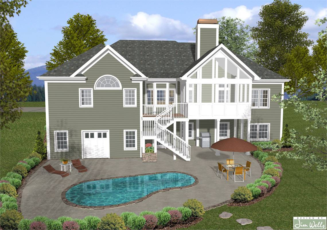 Rear View image of The Mount Airy House Plan
