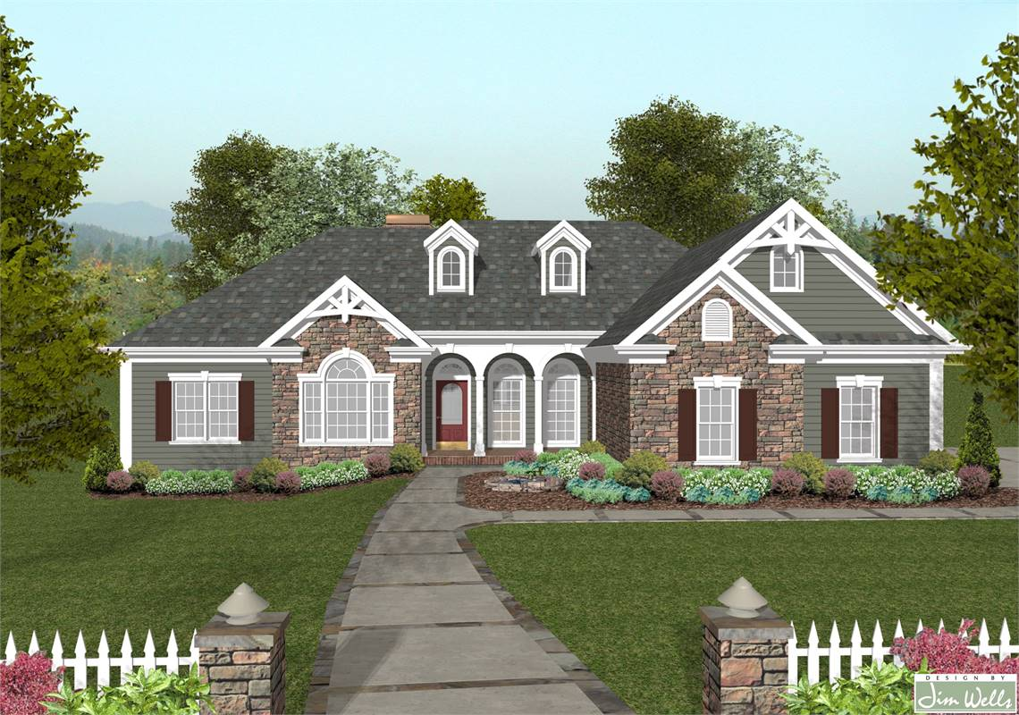 Front View image of The Mount Airy House Plan