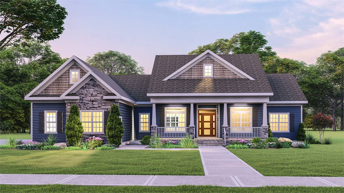 Front View image of Country Creek House Plan