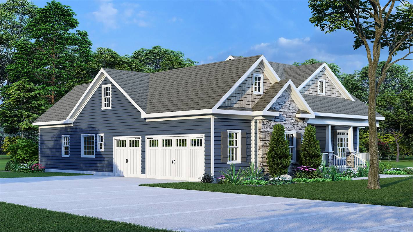 Side View image of Country Creek House Plan