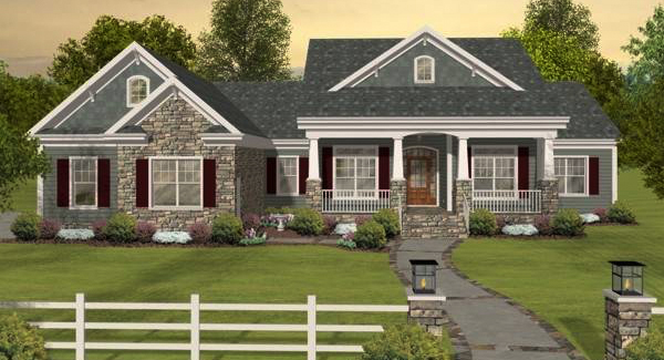 Front Elevation image of The Long Meadow House Plan