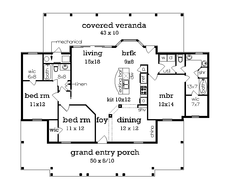Floor plan with 3rd bedroom (included)