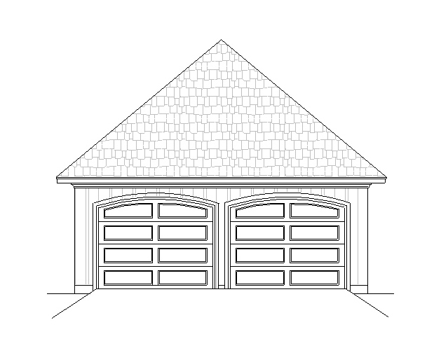 Optional Garage plan elevation by DFD House Plans