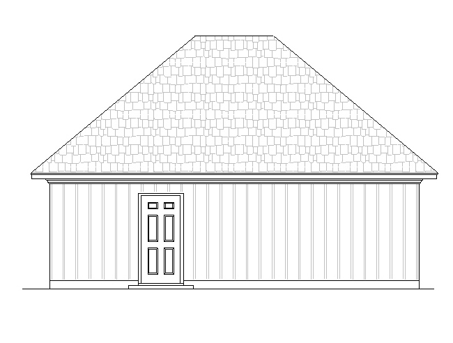 optional garage side view by DFD House Plans