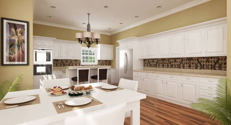 Kitchen and Eating area by DFD House Plans