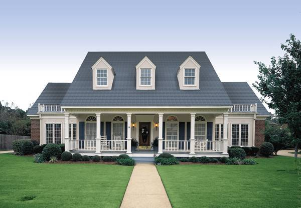 Front Exterior image of Banner Hall-3000 House Plan