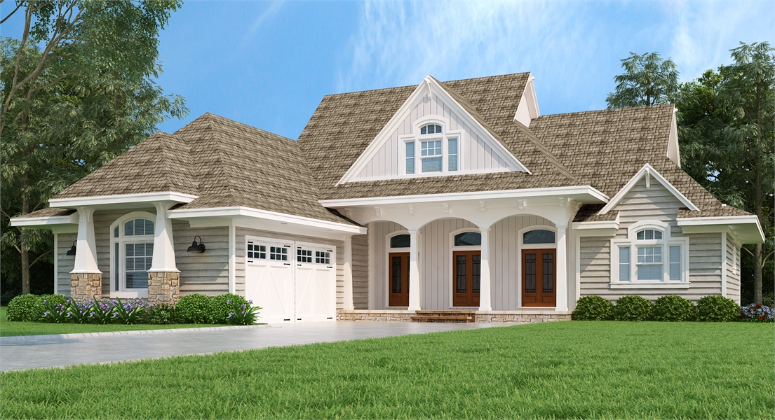 Front Exterior image of Brookside House Plan