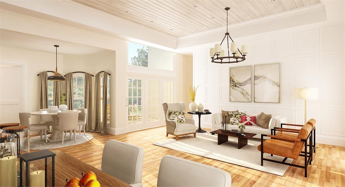 Living Room image of Brookside House Plan