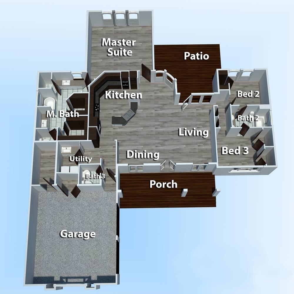 Floor Plan image of Brookside House Plan
