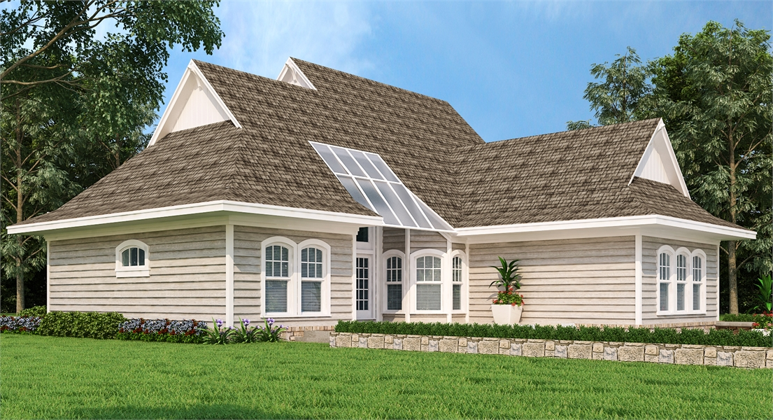 Rear Exterior image of Brookside House Plan