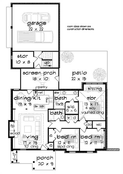 Floor Plan image of Clifton Lane - 1225 House Plan