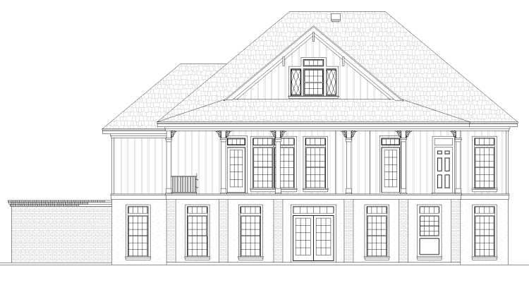 Rear Elevation image of Oaklane House Plan