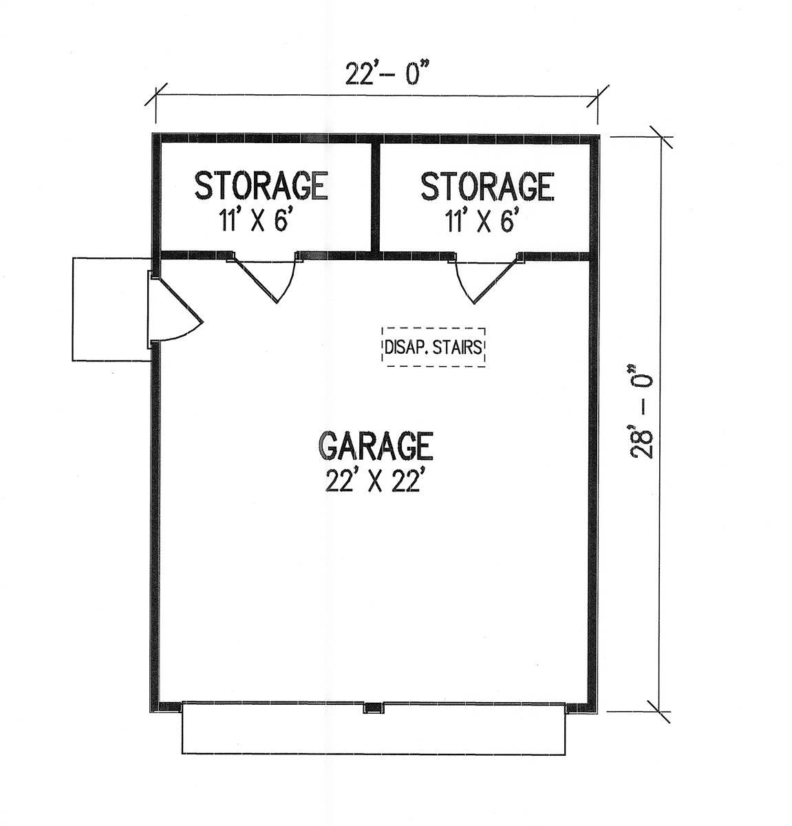 Optional Detached Garage Floor Plan image of Penny Lane House Plan