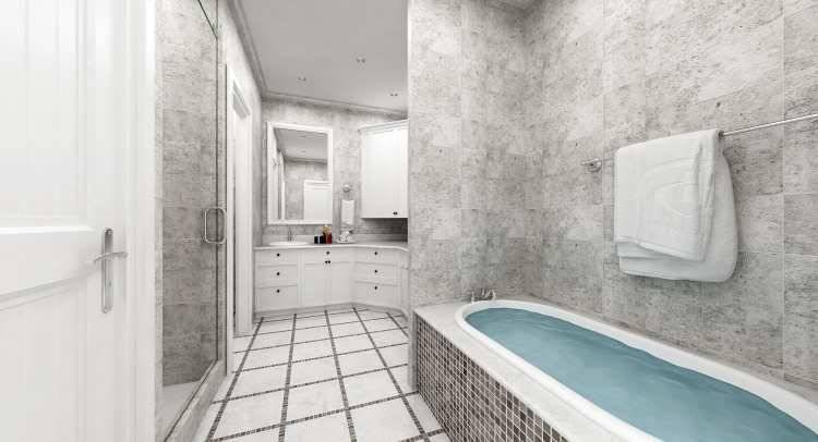 Master Bath image of Penny Lane House Plan