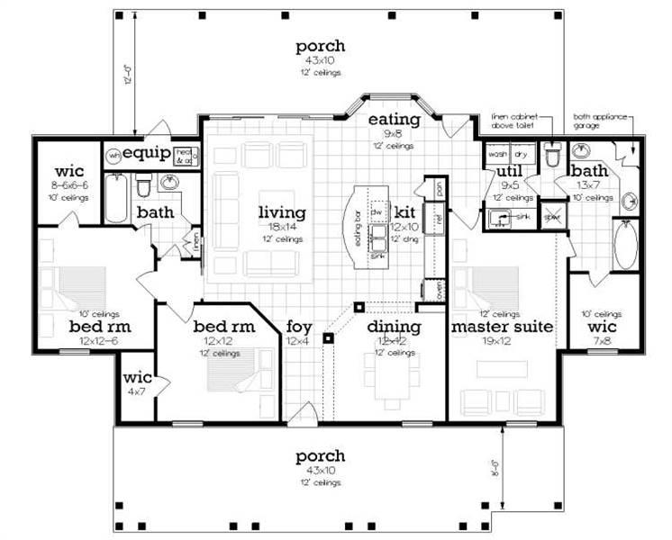 Floor Plan image of Penny Lane House Plan