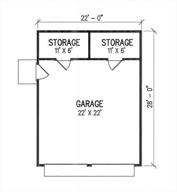 Optional Garage Plan by DFD House Plans