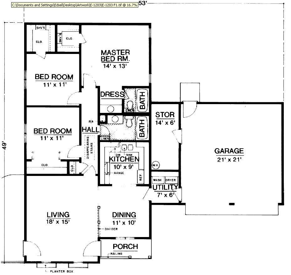 Country House Plan with 3 Bedrooms and 2.5 Baths - Plan 2846