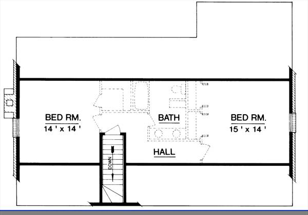 Cape cod house plan with 4 bedrooms and 2 5 baths plan 2997 for House plans with future expansion