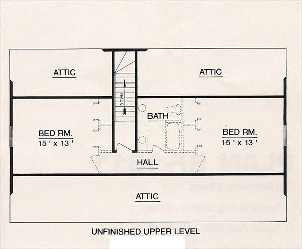 Cape cod house plan with 4 bedrooms and 2 5 baths plan 3047 for House plans with future expansion